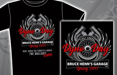 Bruce Henn's Garage Event Logo & T-Shirt