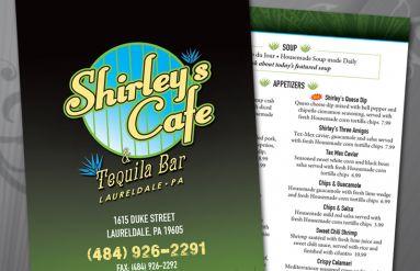 Shirley's Tequila Bar Menus