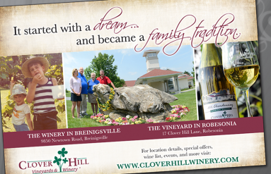 Clover Hill Winery Print Ads