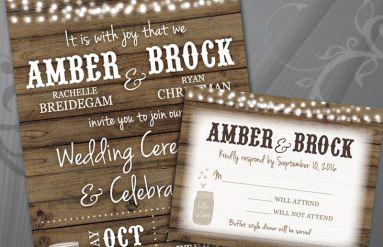 Christman Wedding Invitation