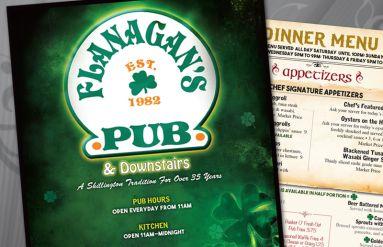 Flanagan's Pub Menus