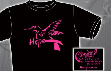 """Hope"" Breast Cancer T-Shirt"