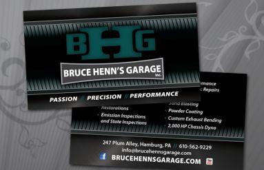 Bruce Henn's Garage Business Card