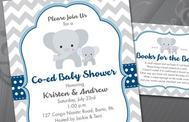 Co-ed Baby Shower Invitation