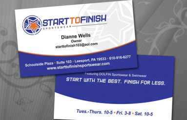Start to Finish Business Card